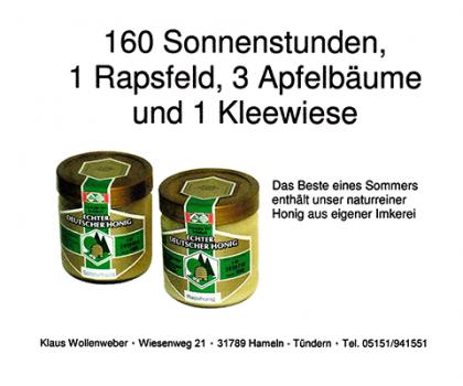 Wollenweber Honig aus Tündern - Immer eine leckere Wahl (Werbung)